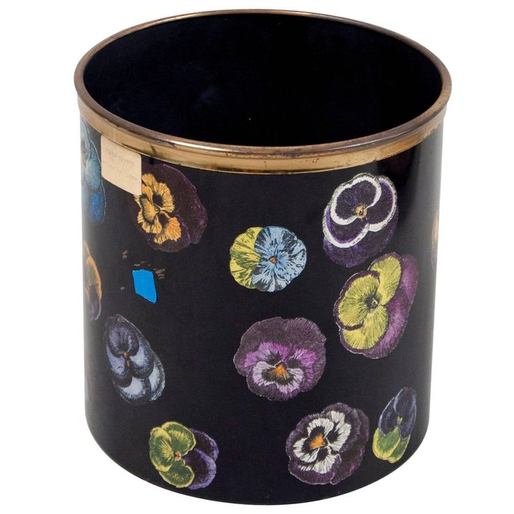 Waste Basket by Piero Fornasetti, Italy, 1950s | From a unique collection of antique and modern trash cans at https://www.1stdibs.com/furniture/more-furniture-collectibles/trash-cans/