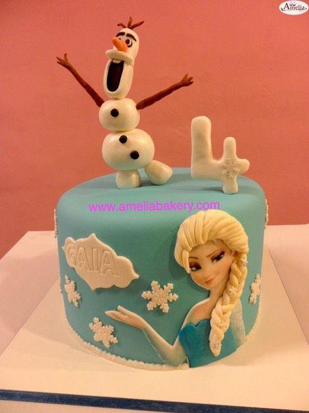 Pastel Tarta Fondant Frozen Elsa