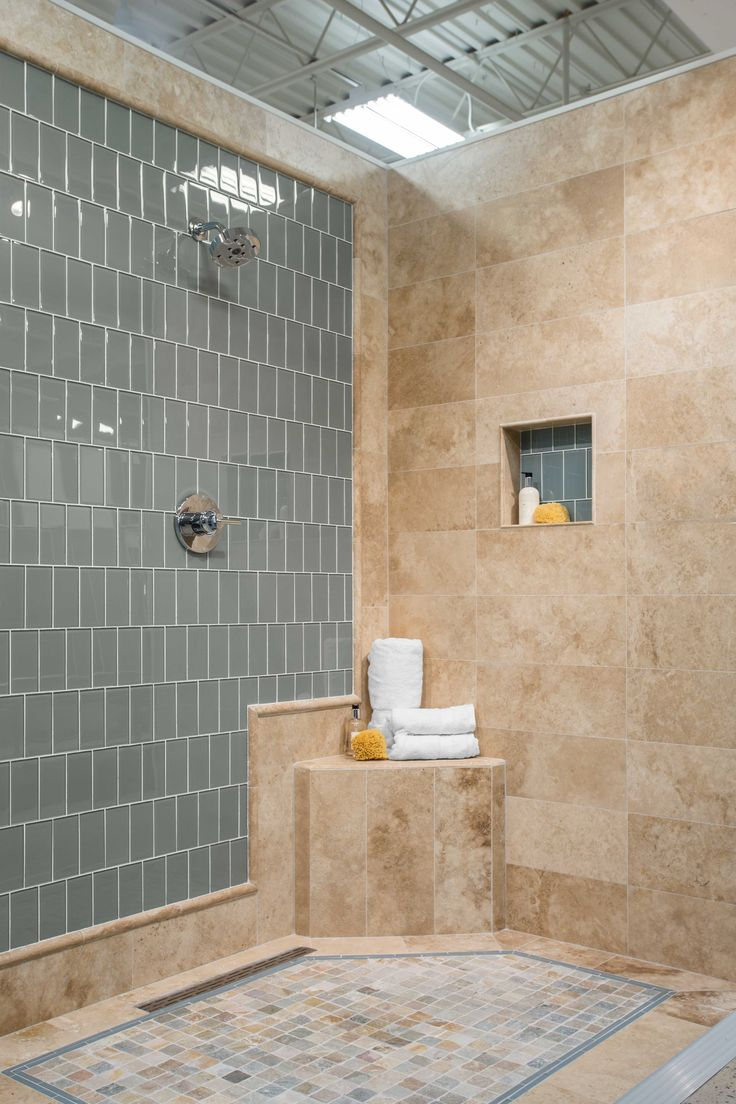 Photo Gallery In Website Bathroom shower beige tile Bucak Light Walnut Travertine Wall Tile x in