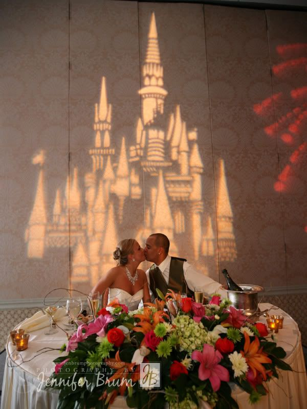 Lighting decor at a Disney wedding reception - Wedding Spotlight: Erika + Kyle | Magical Day Weddings | A Wedding Atlas Fan Site for Disney Weddings