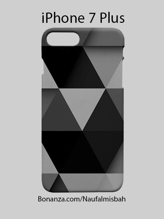Black Grey Triangle iPhone 7 PLUS Case Cover Wrap Around