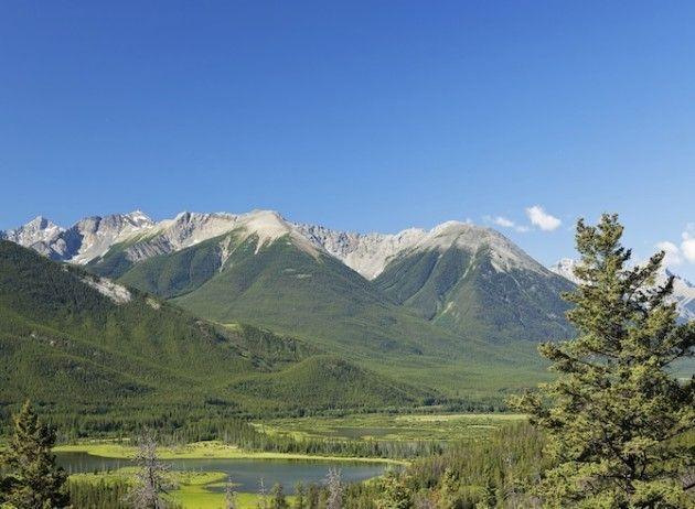 Wandelen en fietsen in de Canadese Rockies.