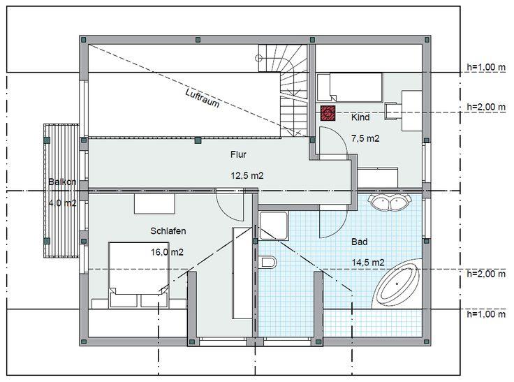 Honka Einfamilienhaus Modell Peak Dachgeschoss Grundriss