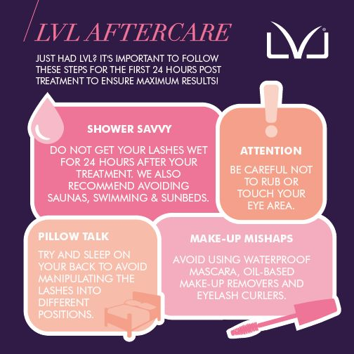 Treated yourself to an LVL lash lift? Follow these simple tips to make sure you get the best out of your new and improved lashes!  #LVL #LVLLashes #LashLift