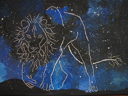 """https://flic.kr/p/yQf6Qy   Lion   """"Lion"""" (Working Title) Foil, Acrylic and Glue on Panel www.websterartgallery.com"""