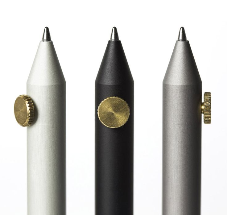 """The designer describes his pens and pencils as """"an exercise in absolute minimalism for design junkies and aficionados of writing""""."""