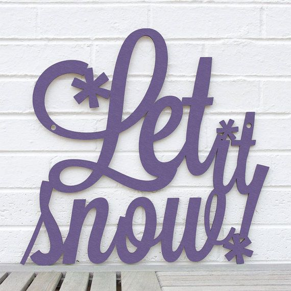 Let it Snow MEDIUM winter skiing Christmas holiday by spunkyfluff