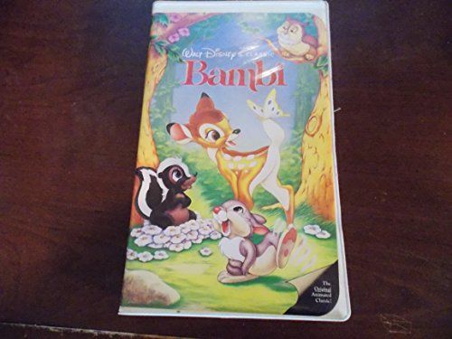 Bambi Disney VHS Black Diamond RARE! With Extras Bambi VHS Black Diamond RARE! A must Have for any Disney collector! Case in good condition, Great collectors item. #Aladdin #Collectibles #Bambi_Disney