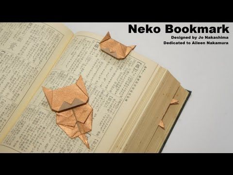 how to make an origami cat bookmark