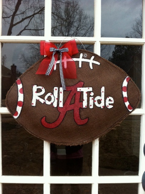 Alabama Burlap Door Hanger By Pickleberrypaints On Etsy