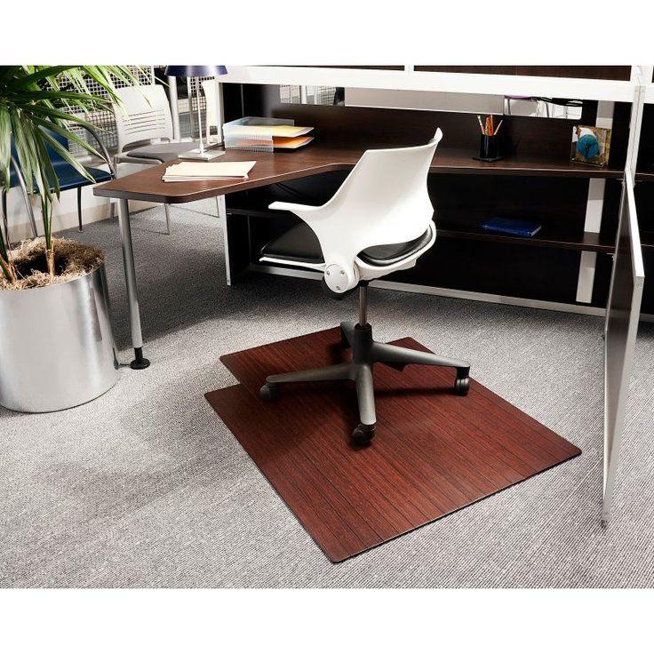 dark cherry 36 x 48 bamboo rollup office chair mat amb24004