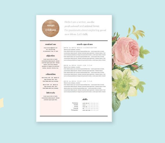 Best Sweet Resumes Images On   Resume Templates