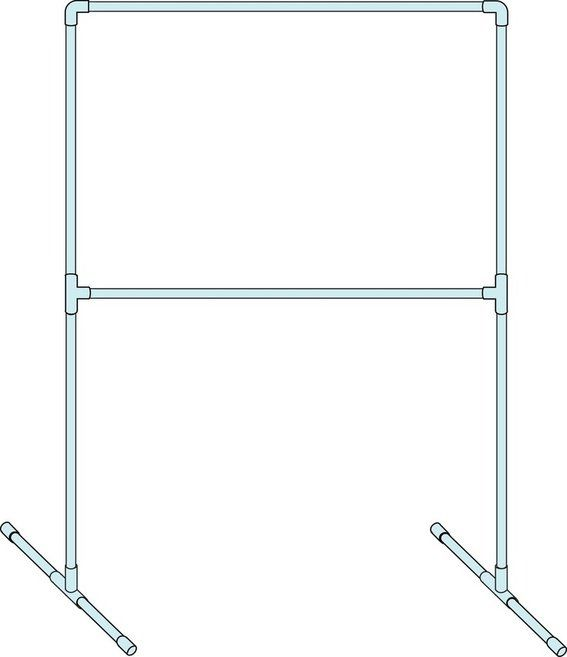 Photo booth set-up with PVC (Can this be made ahead and come apart for easy transport?) PVC Pipe Frame: