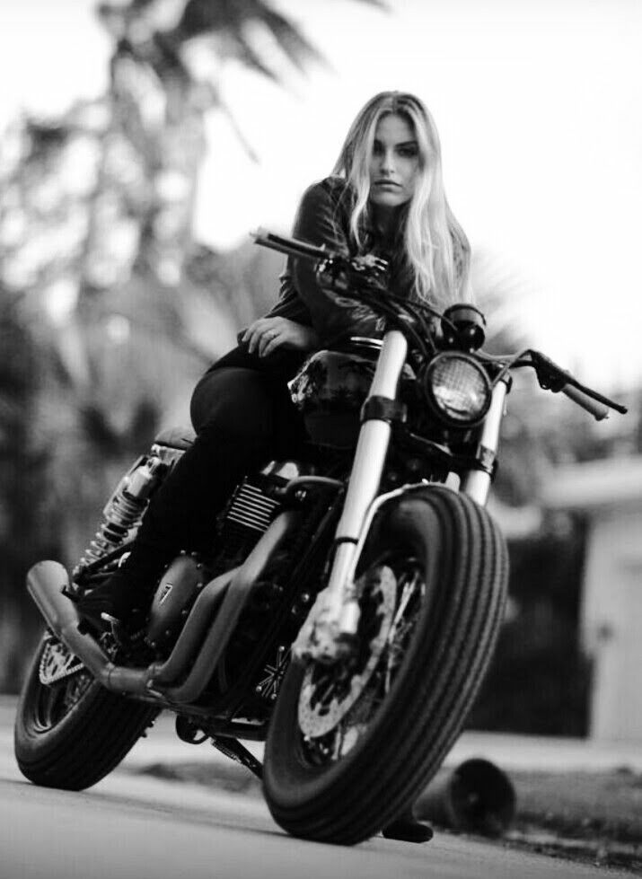 cool girls on motorcycle