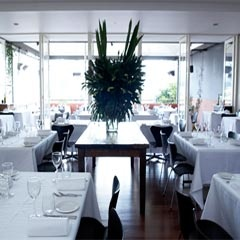 Mezzaluna is a modern Italian restaurant that occupies an enviable hilltop spot in Sydney's Potts Point, overlooking the lights of the city and the shimmering harbour below.