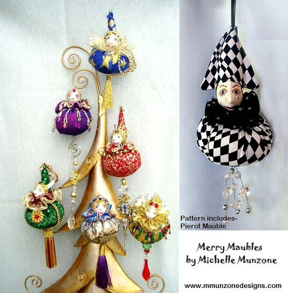 Pattern E-Pattern MERRY MAUBLES Christmas Ornaments Gift