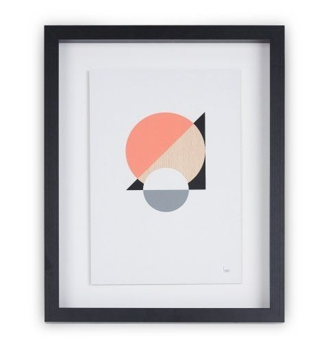 The Loop Wood Screen print in Grey and Pink by Lindsey Lang, £99 | MADE.COM