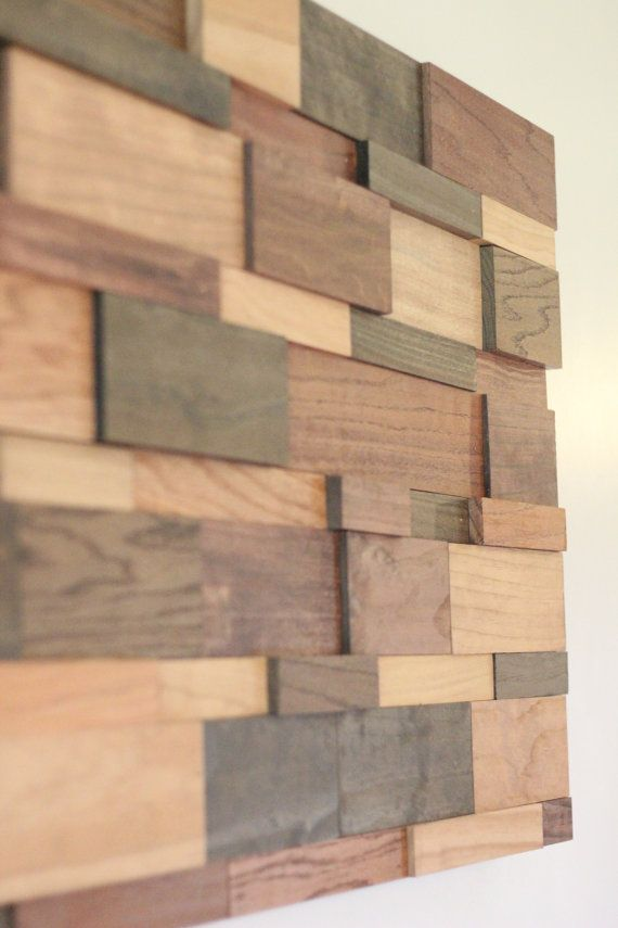 Modern Wood Wall Art 24x48 on Etsy, $550.00 | Wall decor | Pinterest | Wood walls, Wall ...