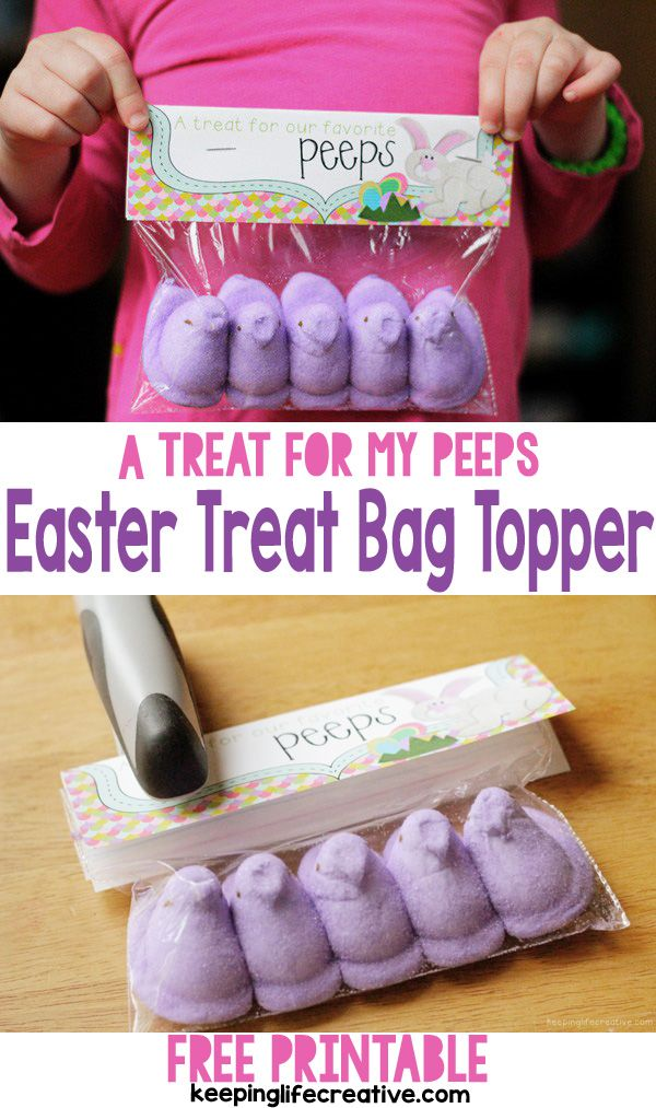 113 best keeping life creative images on pinterest flannel download a free printable easter treat bag topper and put together an easy cute negle Images