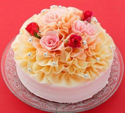 """【2014】母の日に """"バラの花束"""" みたいなケーキはいかが?大阪新阪急ホテルより"""