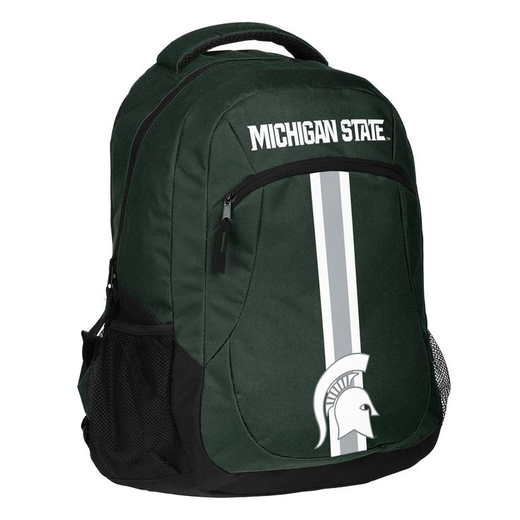 Forever Collectibles Michigan Spartans Ncaa Action Stripe Logo Backpack