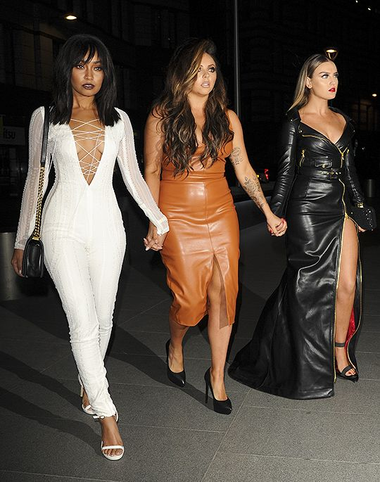 """mixedupworld: """" Members of Little Mix seen arriving at The Stirling in the City for Leigh Ann Pinnocks Birthday, October 8, 2016 """""""