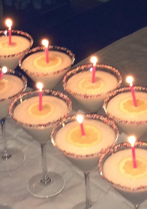 The Martini Lady: Better than cake! Happy Birthday martinis