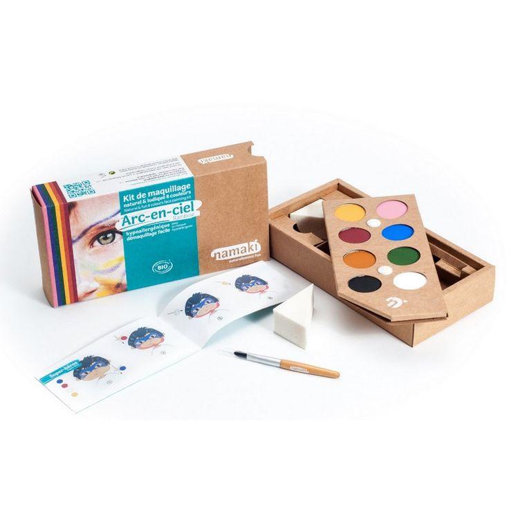 Kit Maquillage Enfant 8 couleurs Arc-en-ciel