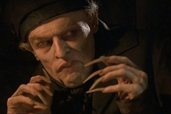 """Willem Dafoe, 'Shadow of the Vampire' """"It became part of the working day—to look in the mirror and see myself go away."""" Willem Dafoe was practical about his duty on Shadow of the Vampire, spending four hours a day in makeup. He wore pounds of makeup over a prosthetic mask which was glued to his face. And lets not forget those fingernails."""