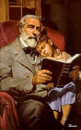 General Robert E. Lee with little boy.