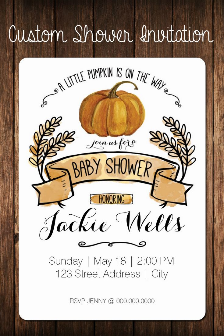 Little pumpkin, fall baby shower | custom invitation