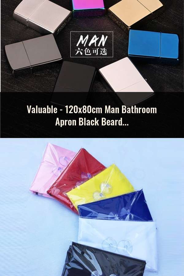 The Cheapest Price 120x80cm Man Bathroom Apron Black Beard Apron Hair Shave Apron For Man Waterproof Floral Cloth Household Cleaning Protecter Watches, Parts & Accessories Jewelry & Watches