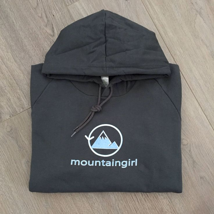 A fast favorite now available at my Etsy shop https://www.etsy.com/ca/listing/571243527/mountain-girl-hoodie-organic-cotton