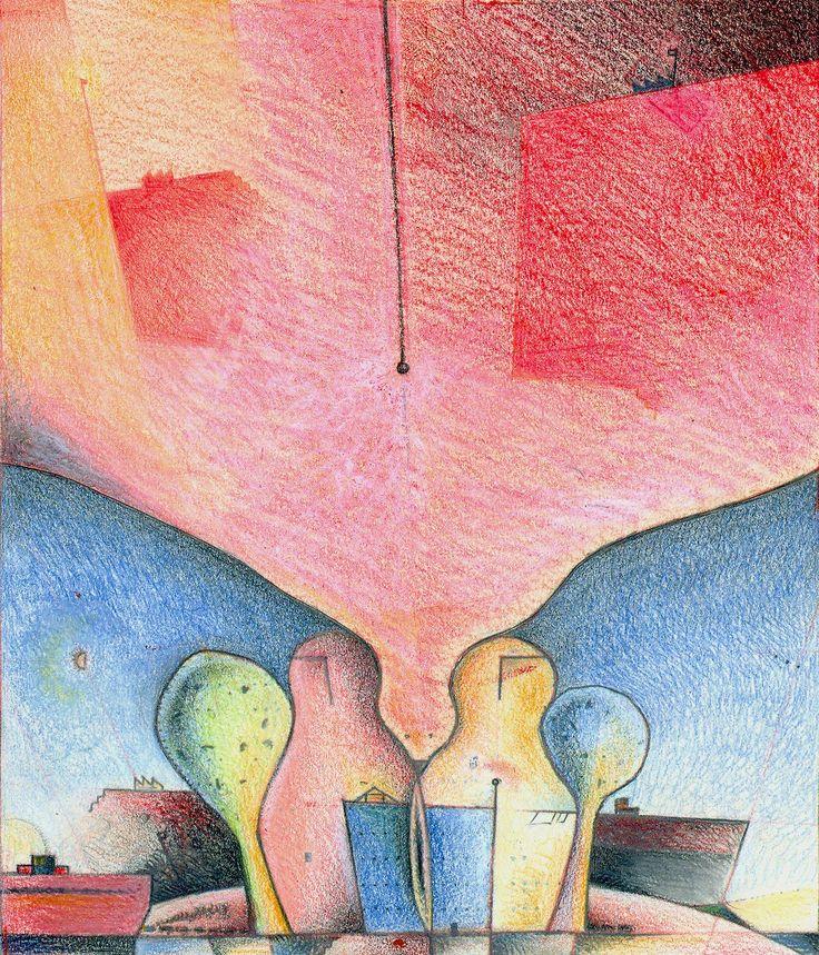 Bird. Yamandú Cuevas drawing.7,2 x 8,4 inches. Circa 2005.