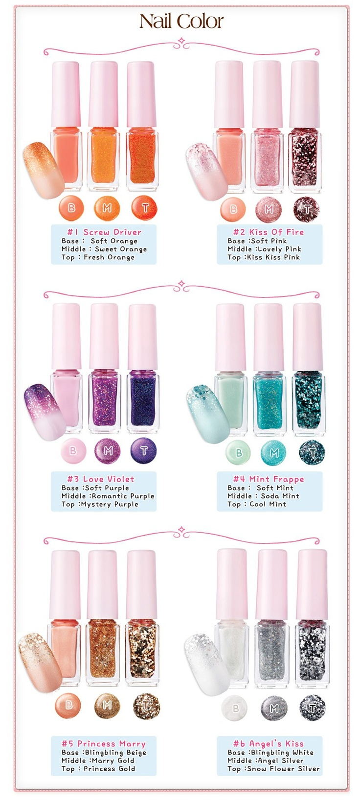etude house nails ~ wish we had etude house in the states!