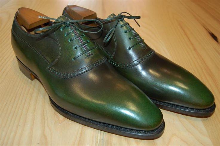 Мужские зеленые туфли
