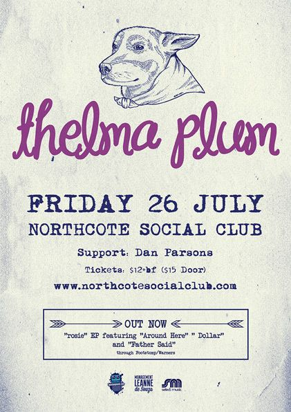 Thelma Plum with support from Dan Parsons and Kathryn Rollins - Northcote Social Club 26 July 2013 - Info/tix: https://corner.ticketscout.com.au/gigs/1356-thelma-plum