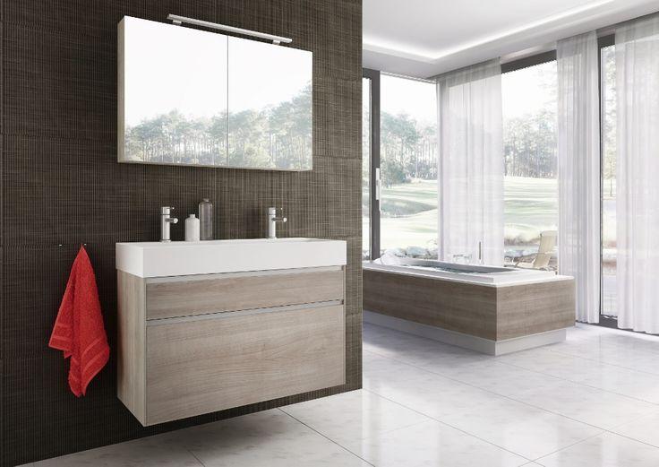 Badmeubel serie Square XXL met extra brede onderkast voor 20% meer opbergruimte - via H&R badmeubelen & sanitair