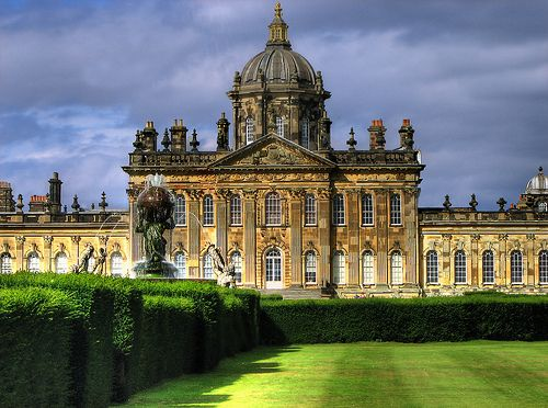 Castle Howard in N. Yorkshire, England. Not a true castle, it was built bet 1699 & 1712 for the 3rd Earl of Carlisle. It has been the home of the Howard family for more than 300 years.