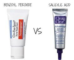 benzoyl peroxide vs salicylic acid: which one should you use? http://www.wartalooza.com/treatments/trichloroacetic-acid
