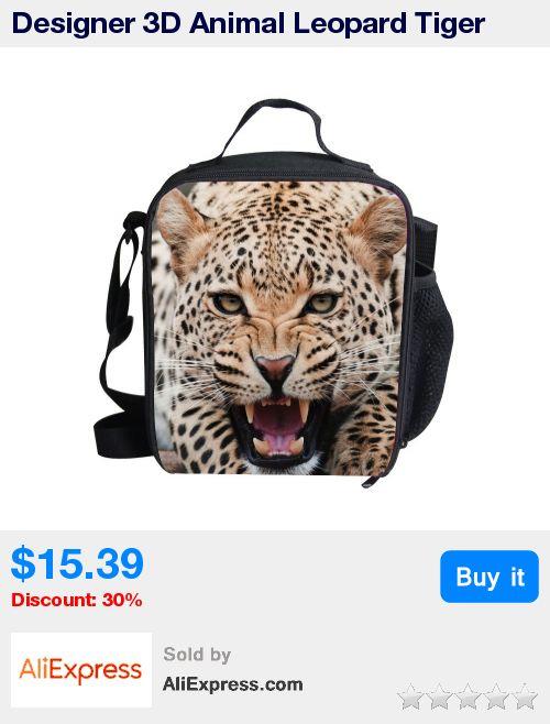 Designer 3D Animal Leopard Tiger Print Lunch Bag Thermos Lunch Bags For Kids Men's Thermal Food Bag Lancheira Termica Infantil * Pub Date: 02:12 Apr 12 2017