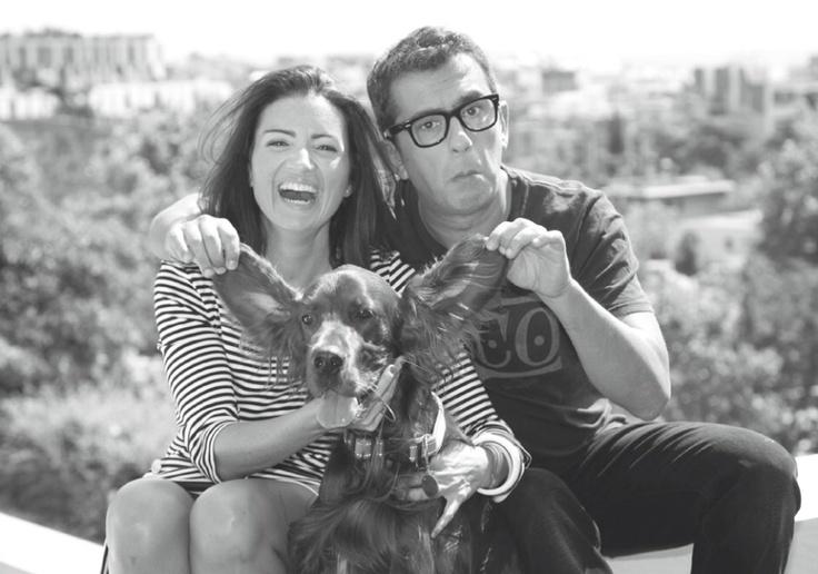 Silvia Abril y Andreu Buenafuerte junto a Mel