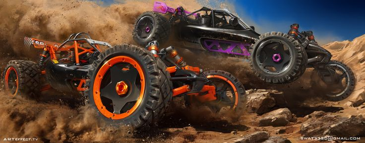 Buggy racing, Sviatoslav Gerasimchuk on ArtStation at https://www.artstation.com/artwork/buggy-racing