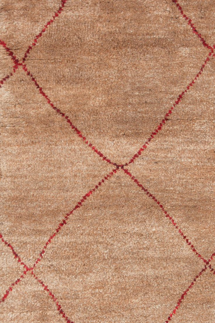 Dash & Albert Kahina Crimson Hand Knotted Rug - 5x8 (1520 x 2430) - approx $1200 - wool/cotton/poly