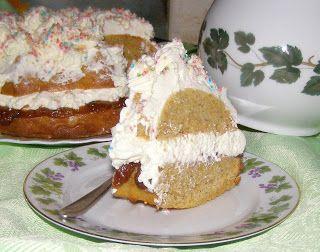 W Mojej Kuchni Lubię.. : pyszne ciasto z resztek po soku z kremem mascarpon...