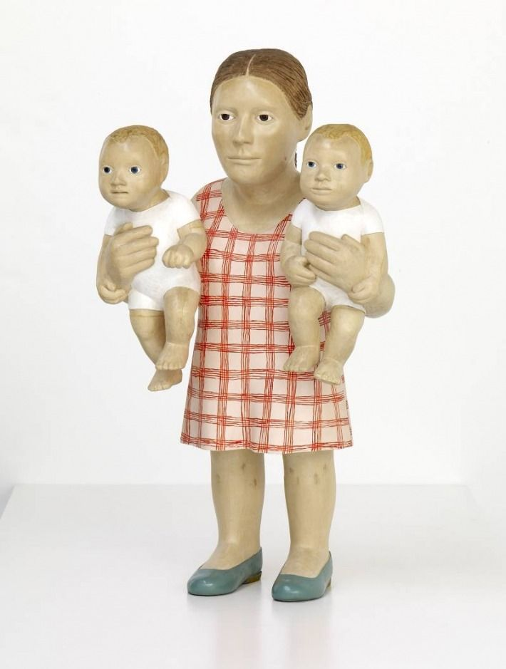 Two babies. Love the simplicity, yet the oddly frozen aspect is unsettling.  --Claudette Schreuders