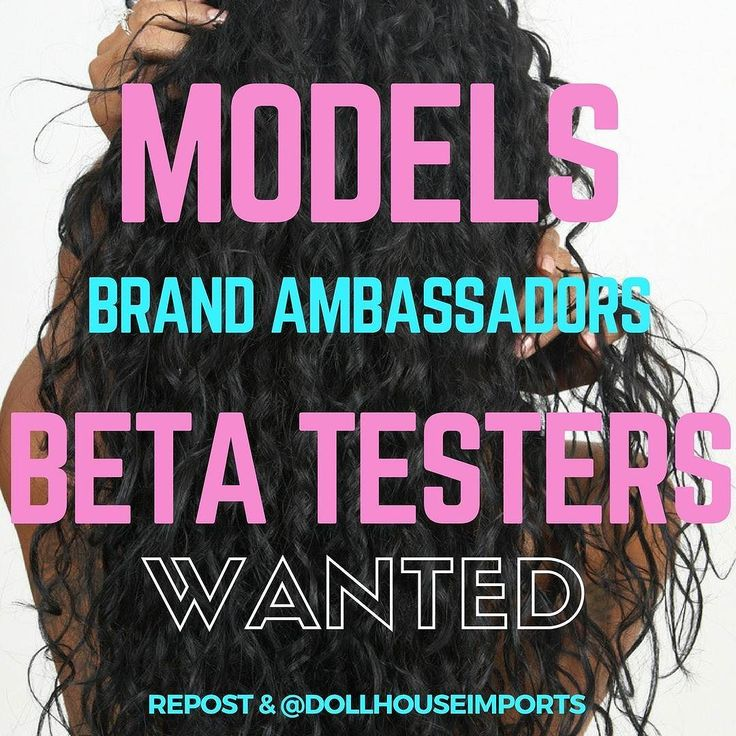 Female models Brand Ambassadors and Beta Testers Wanted! Interested?  Repost and @dollhouseimports on your page with the position you would like to be considered for (ie: Model Brand Ambassador Beta Tester). If chosen we will DM you more details  Upcoming events Campaign Shoots & Bronner (February show)  Atlanta-based YouTuber/Blogger is a  Also accepting walkin applicants.