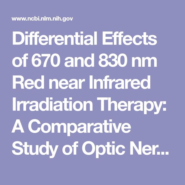 Differential Effects of 670 and 830 nm Red near Infrared Irradiation Therapy: A Comparative Study of Optic Nerve Injury, Retinal Degeneration, Traumatic Brain and Spinal Cord Injury