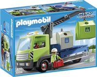 Playmobil 6109 Vrachtwagen met glascontainers - Vooraanzicht