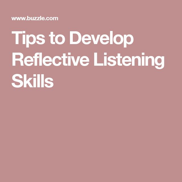 my listening skills reflection Reflective listening is the most effective form of listening, it includes empathizing, summarizing and reflecting mood back to the speaker  the reflection of words .